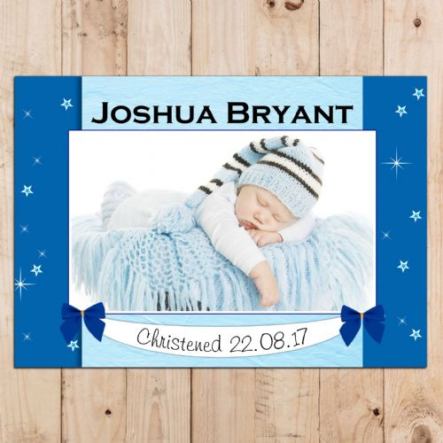 Personalised Boys Christening Baptism Celebration PHOTO Poster Banner N94